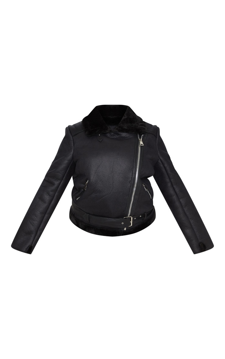 Plus Black Aviator Coat 3