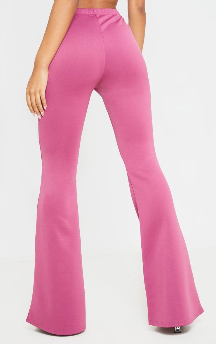 Washed Violet High Waist Extreme Flare Long Leg Pants 4