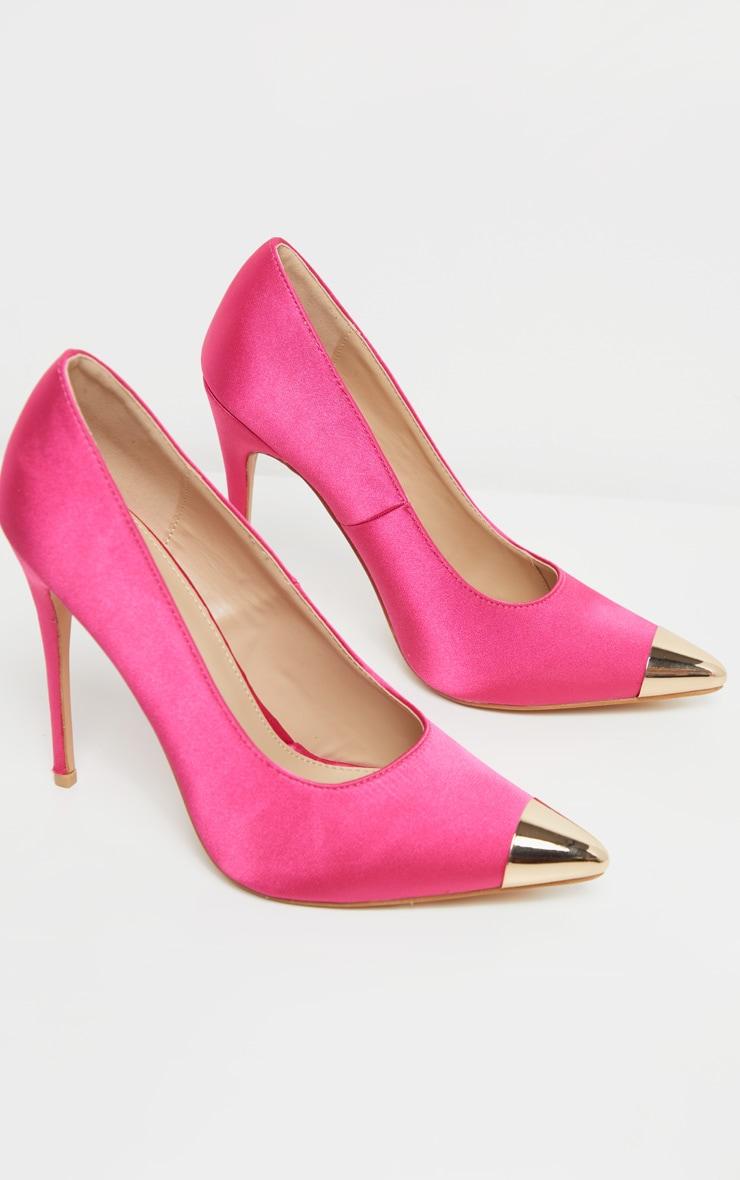 Pink Metal Toe Court Shoe 5