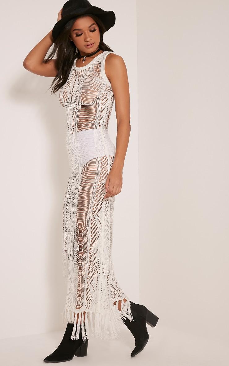 Rashida Cream Crochet Maxi Dress 1