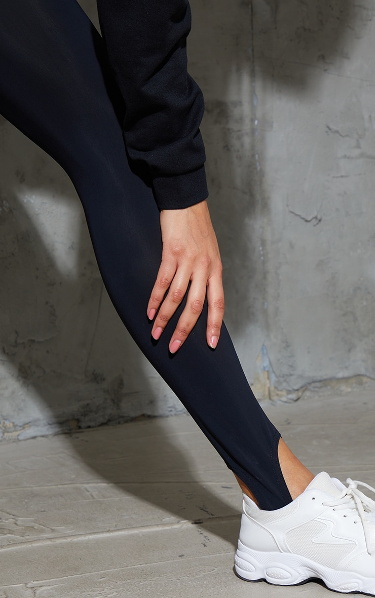 Black Stirrup Gym Leggings 4