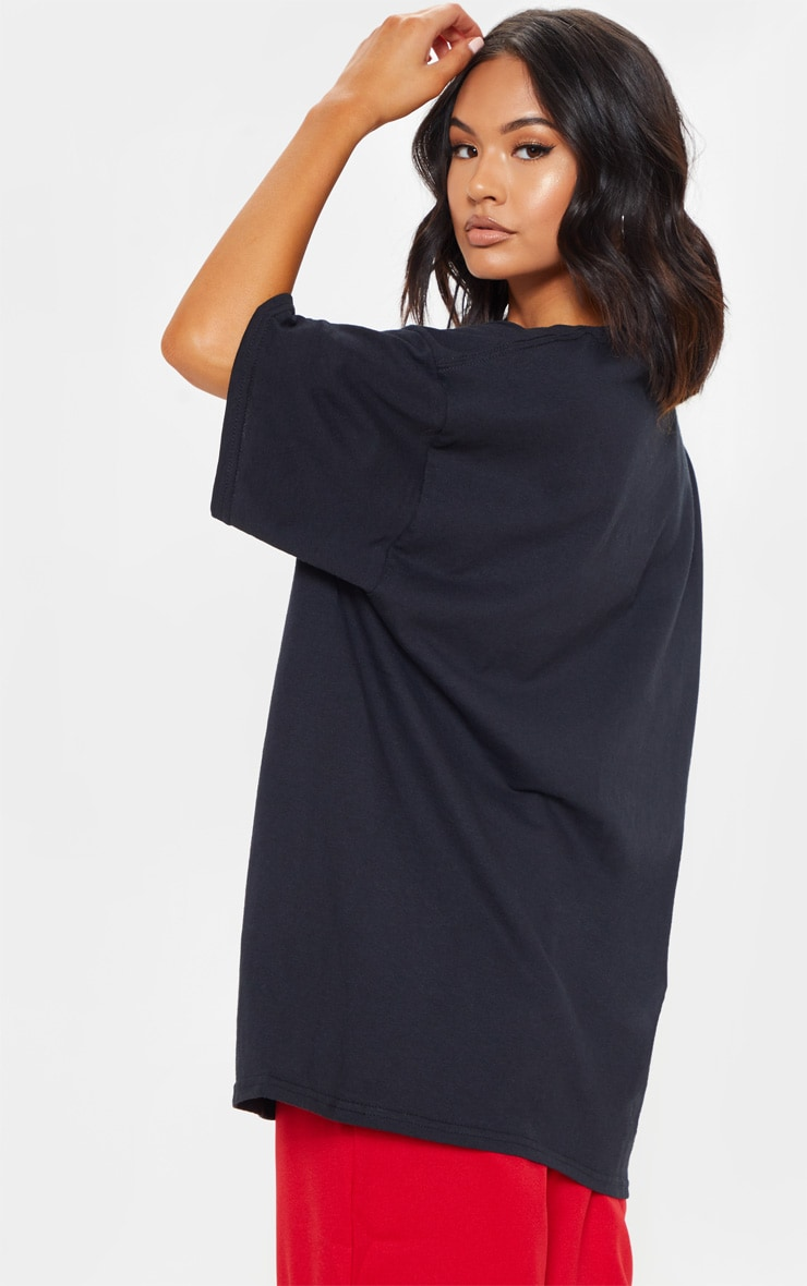 Black Oversized Boyz N the Hood Print T Shirt 2