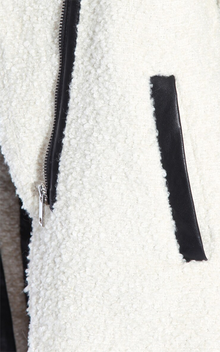 Becki Cream Slouch Coat  4