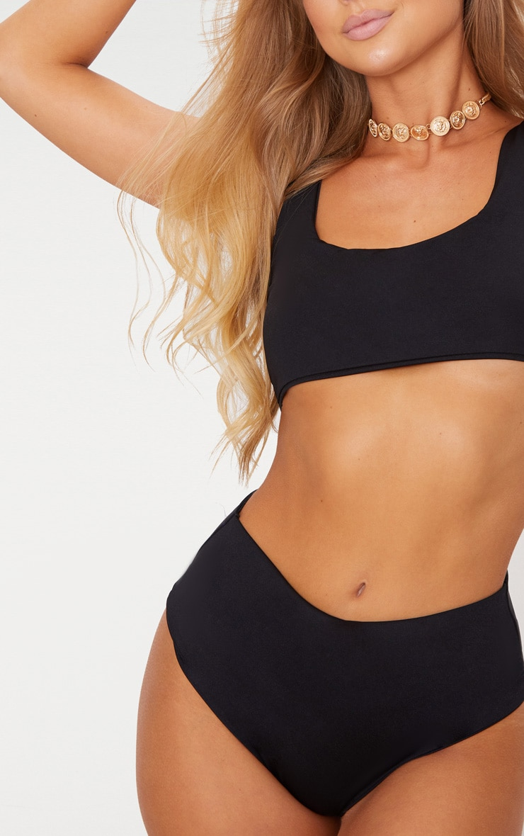 Black Mix & Match High Waisted Bikini Bottom 6