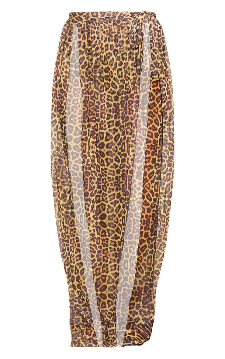 Paréo de plage long à imprimé léopard 3