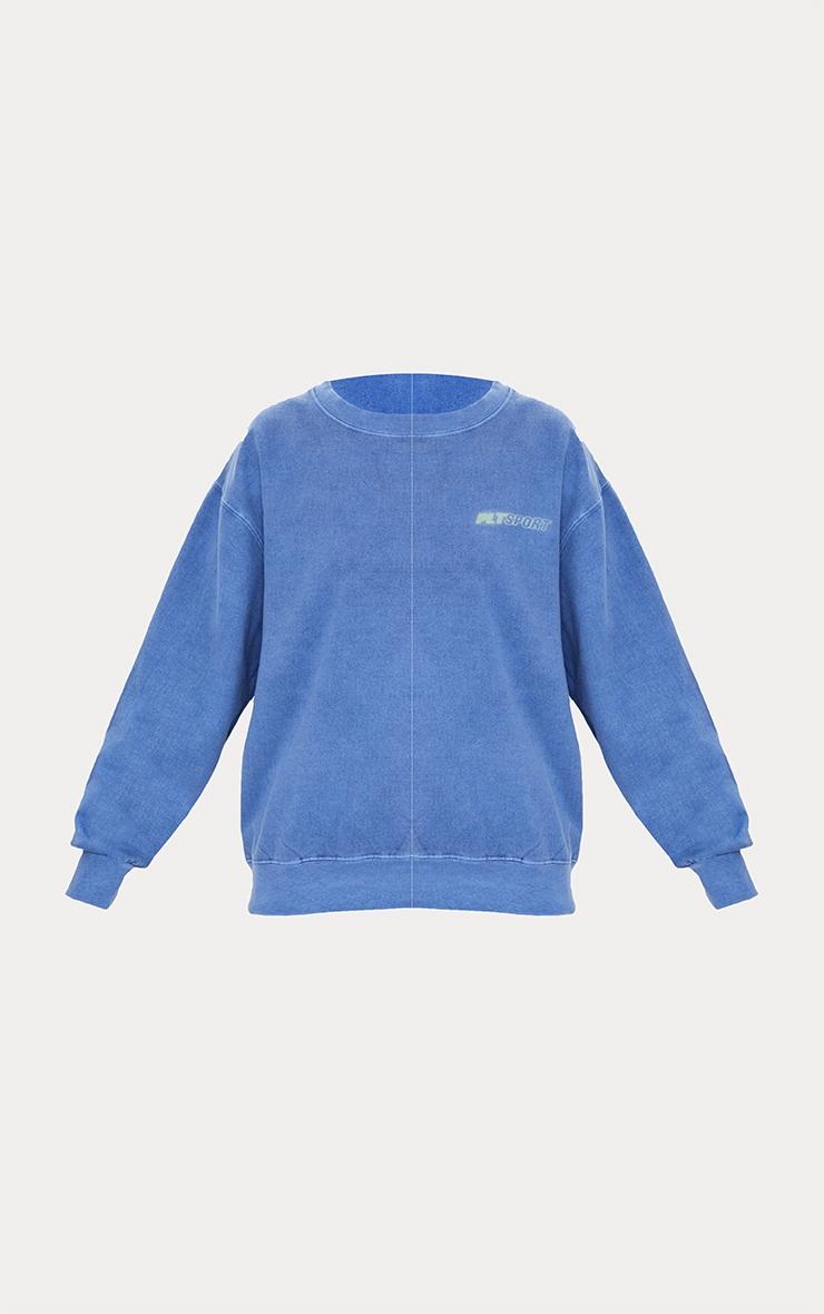 PRETTYLITTLETHING Blue Oversized Sport Sweatshirt 5