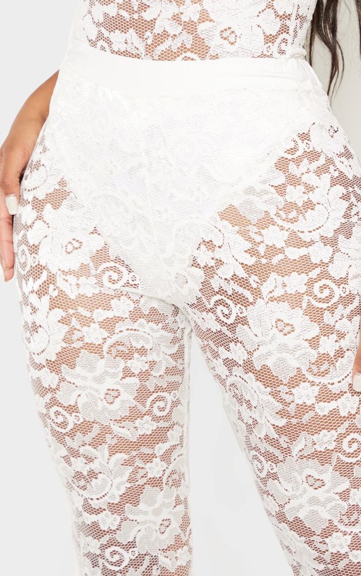 Shape White Lace Flare Trouser  5