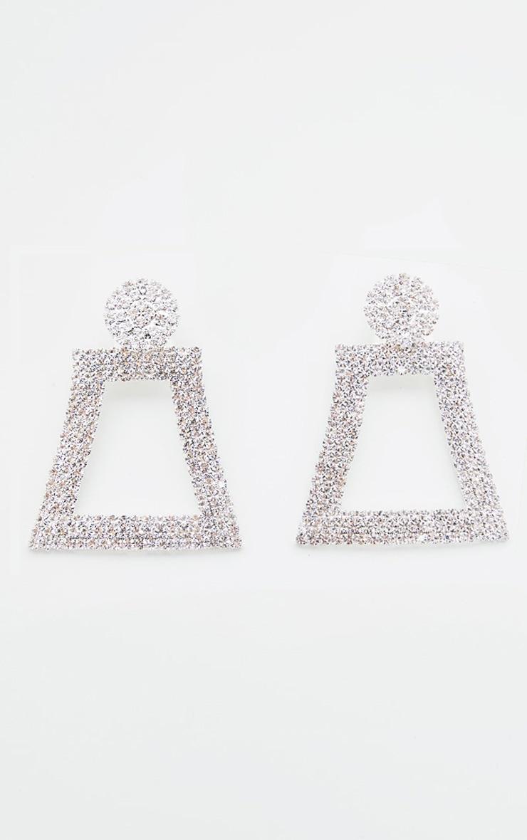Crystal Diamante Geo Drop Earrings 2