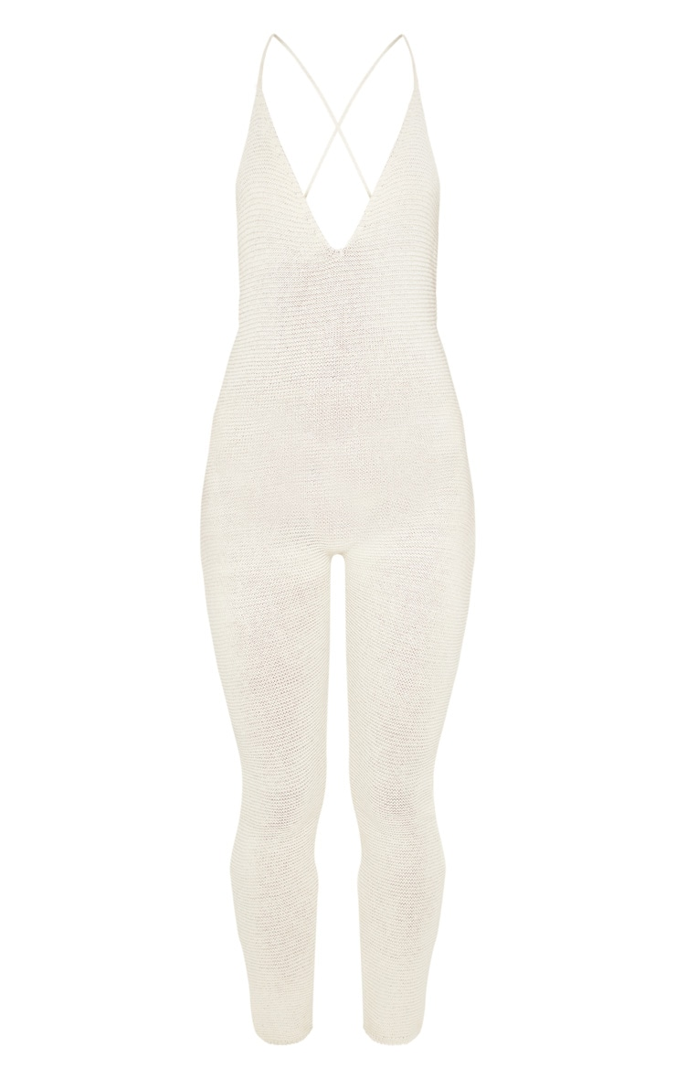Cream Knitted Jumpsuit 3