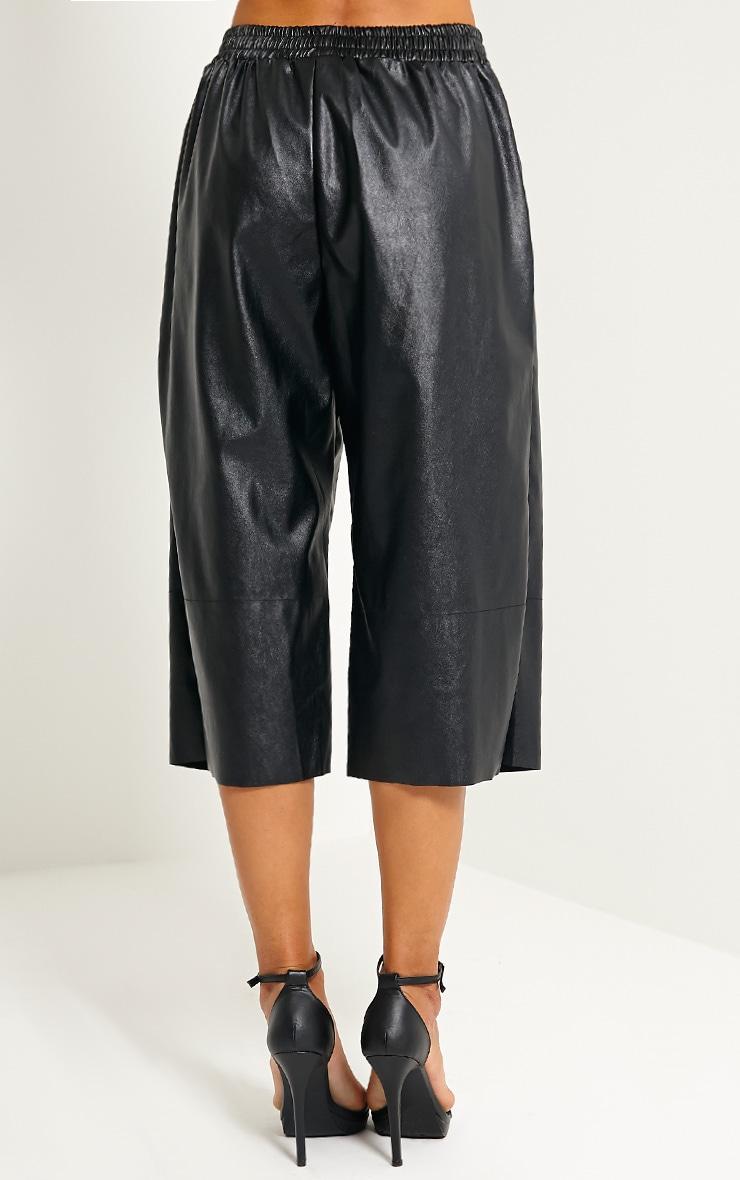 Brit Black Leather Culottes 4