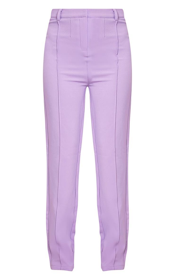 Anala Lilac High Waisted Straight Leg Trousers 3