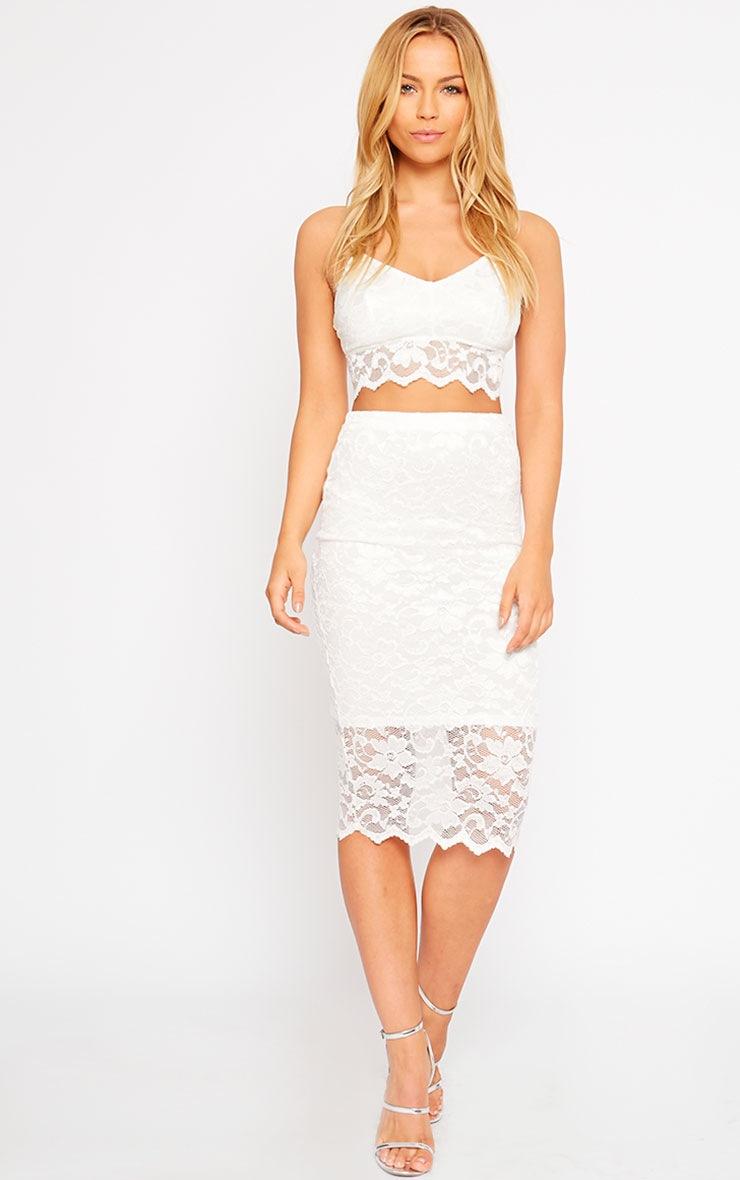 Corinna White Lace Bralet 3