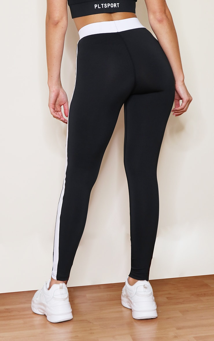 Monochrome Contrast High Waist Gym Legging 3