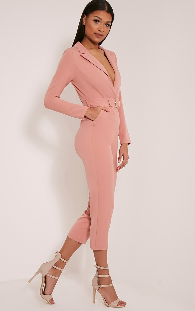 Mell Rose Wrap Buckle Crop Jumpsuit 4