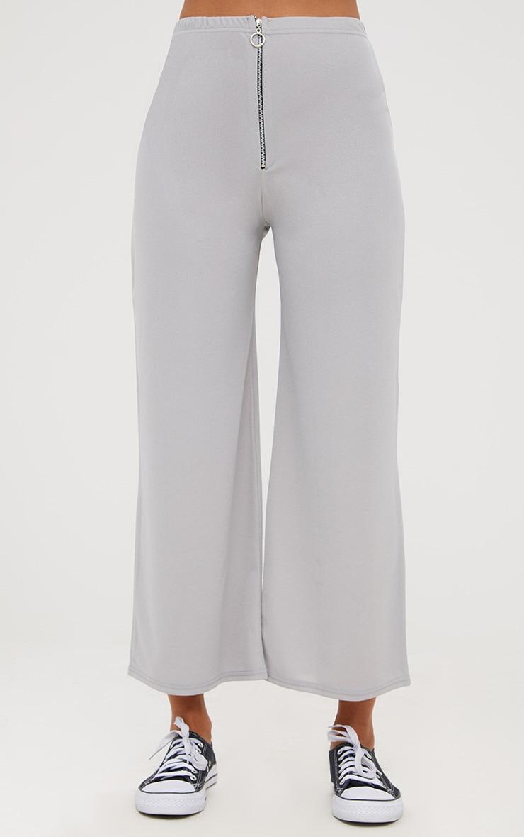 Grey Ring Zip Culottes 2