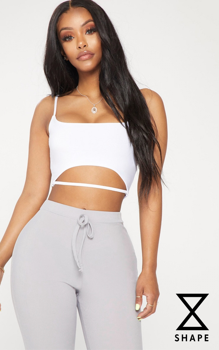 Shape White Slinky Crop Top 1