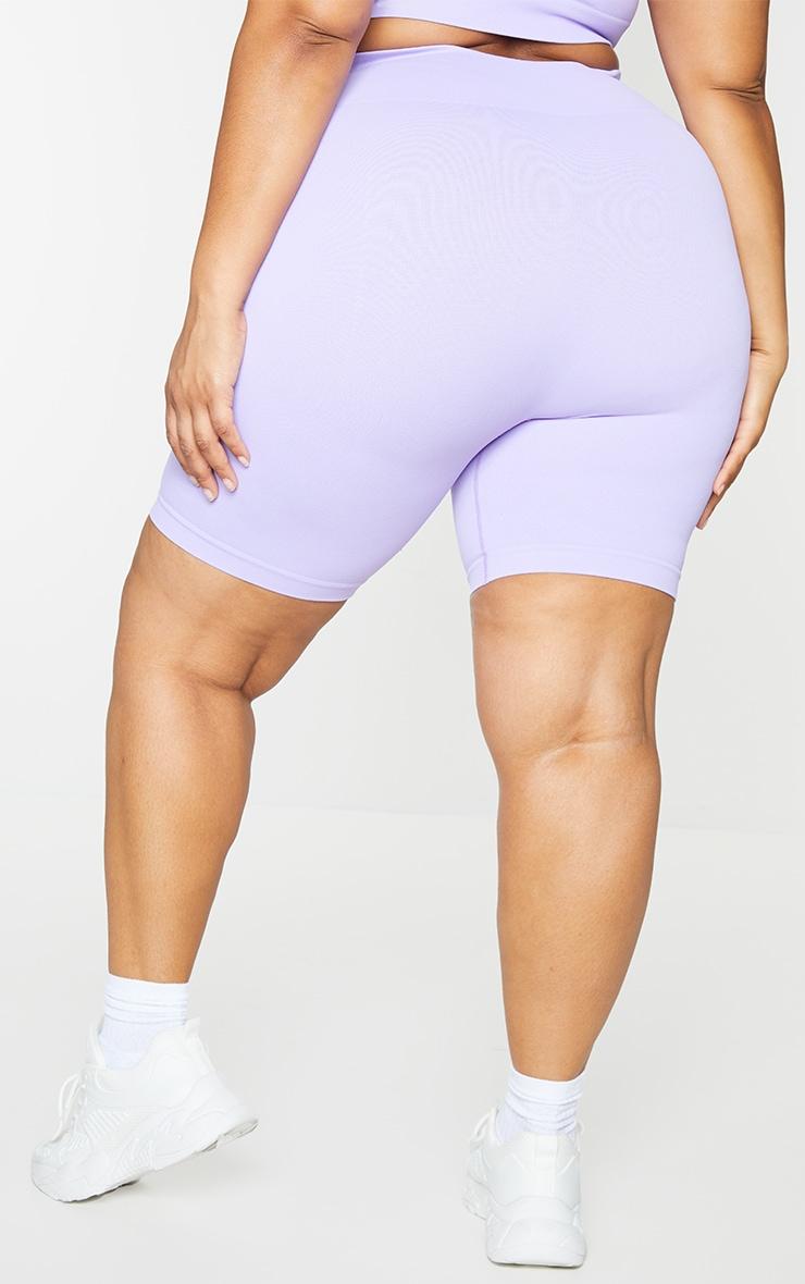 Plus Lilac Seamless Bike Shorts 3