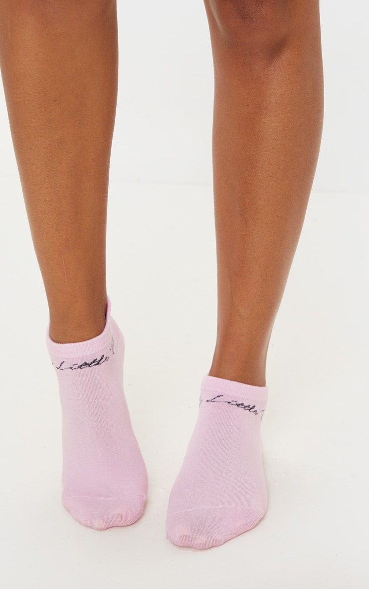 PRETTYLITTLETHING Pink Trainer Socks 2
