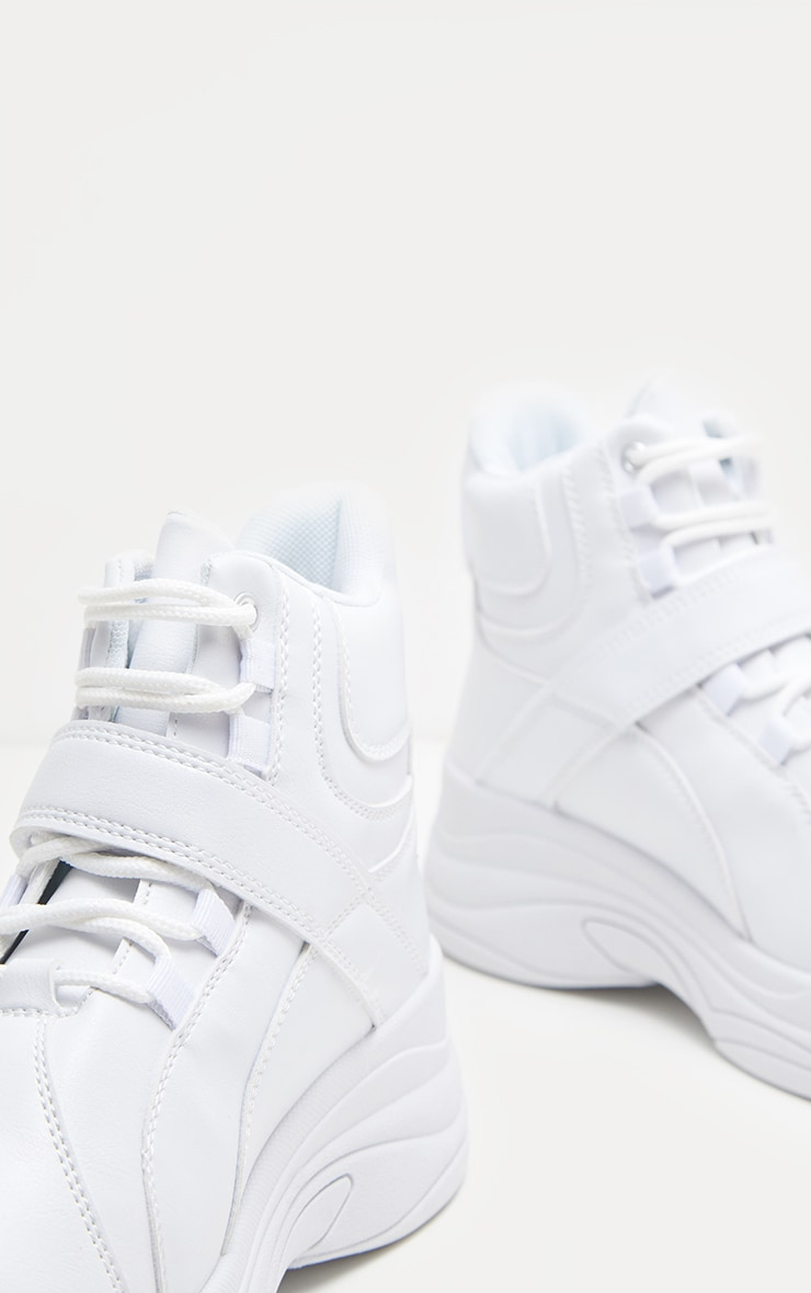 White Chunky High Top Trainer 4