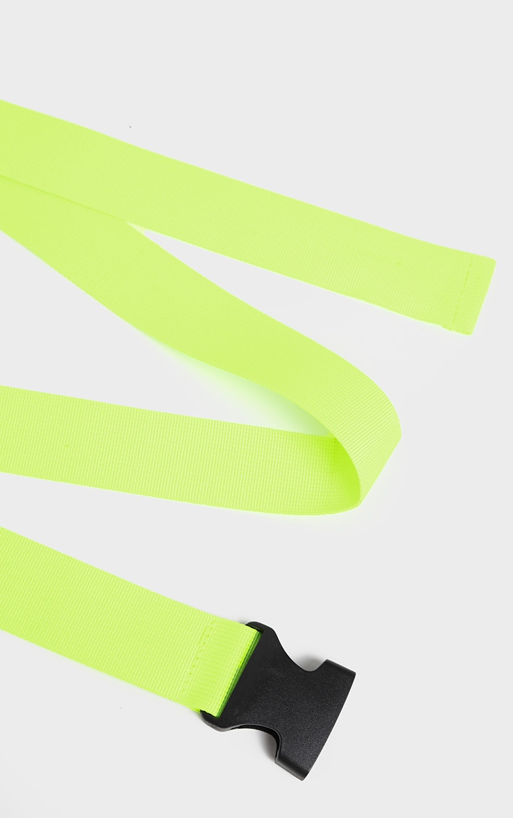 Lime Green Tape Buckle Belt 4