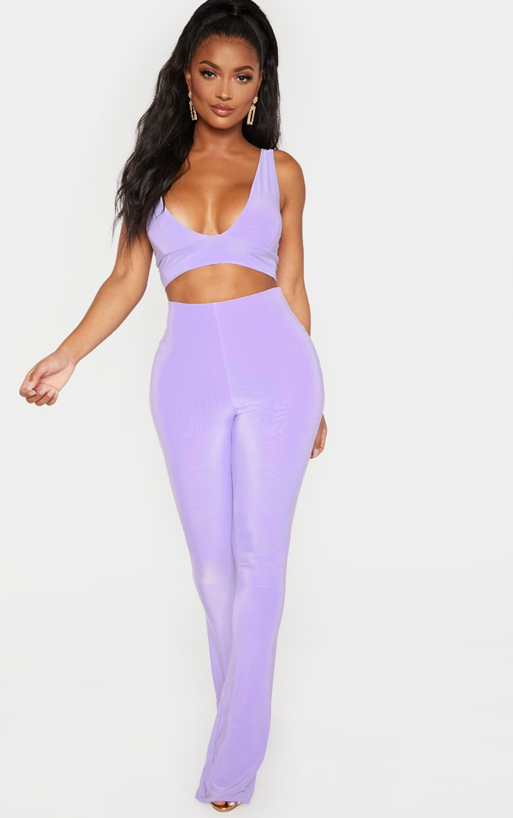 Shape Lilac Plunge Strappy Crop Top 4