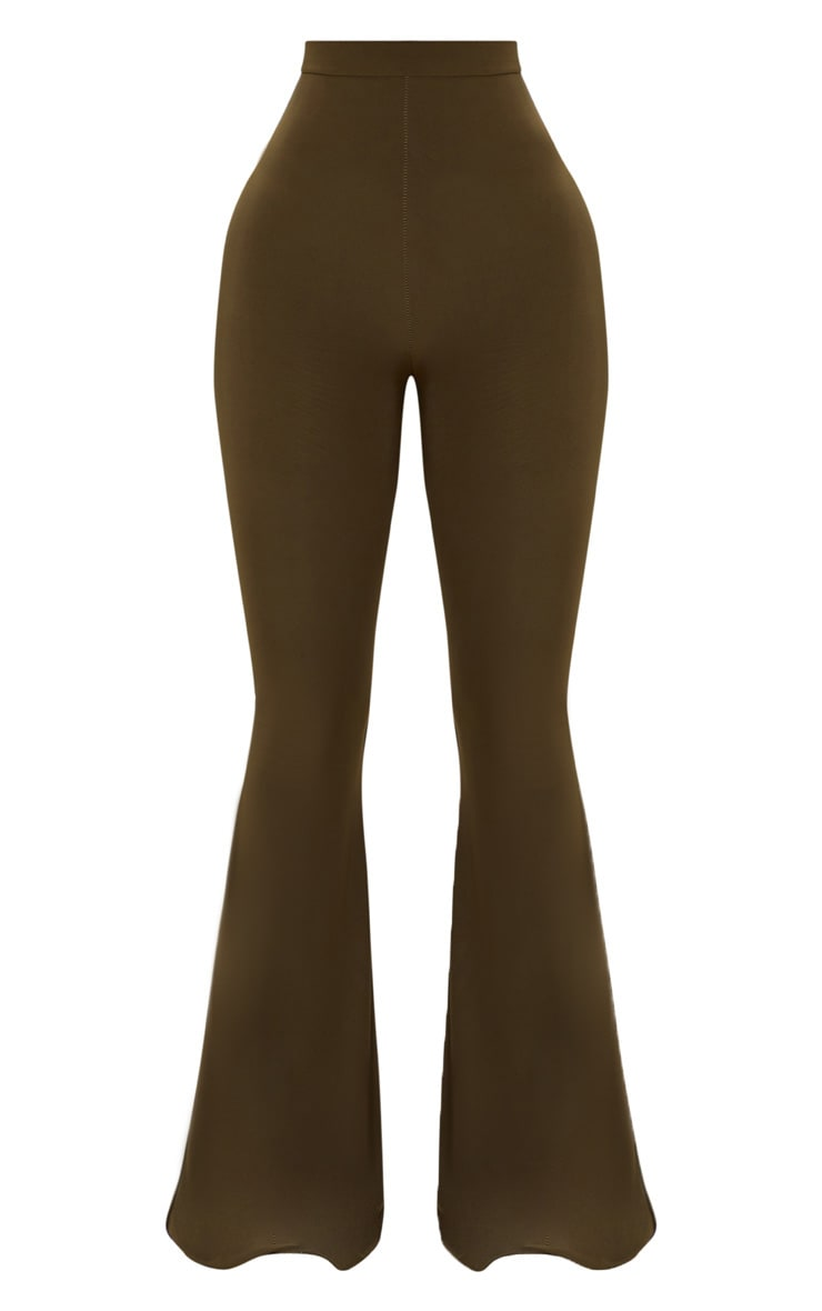 Shape Khaki Slinky Flared Trousers 3