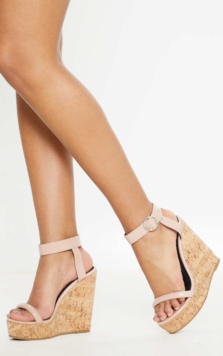 Nude Tube Strap Wedge  2