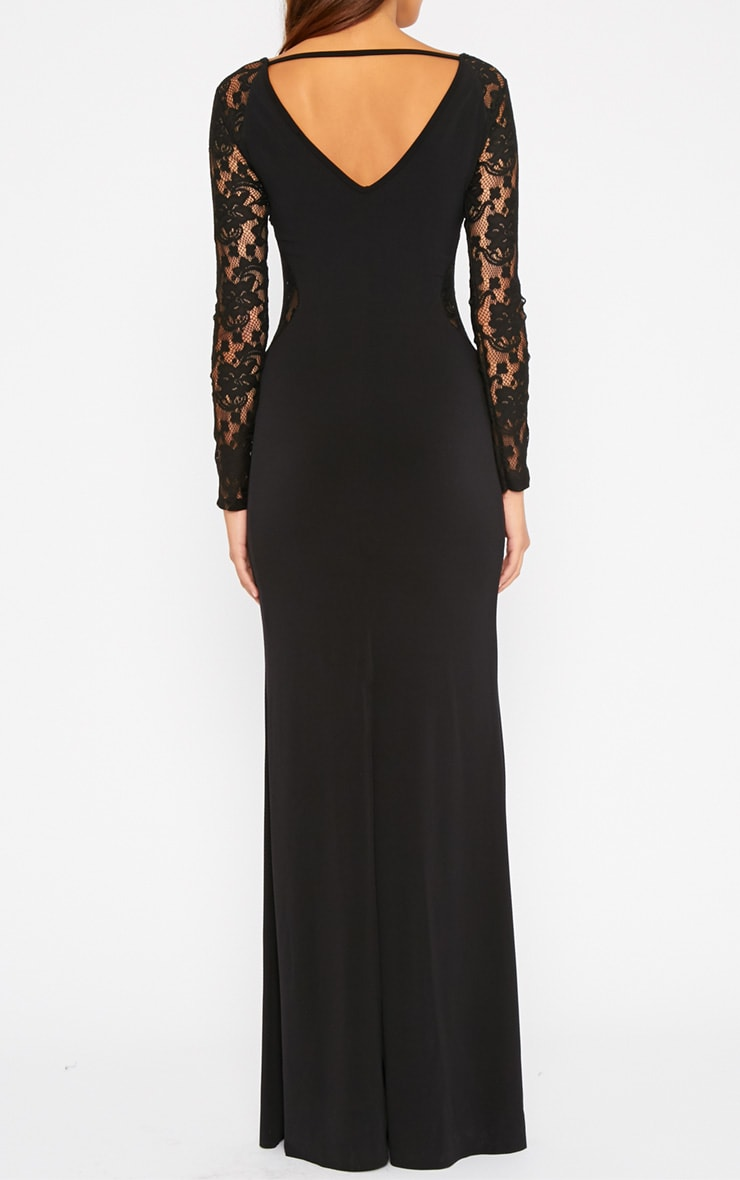 Debbie Black Lace Insert Maxi Dress 2