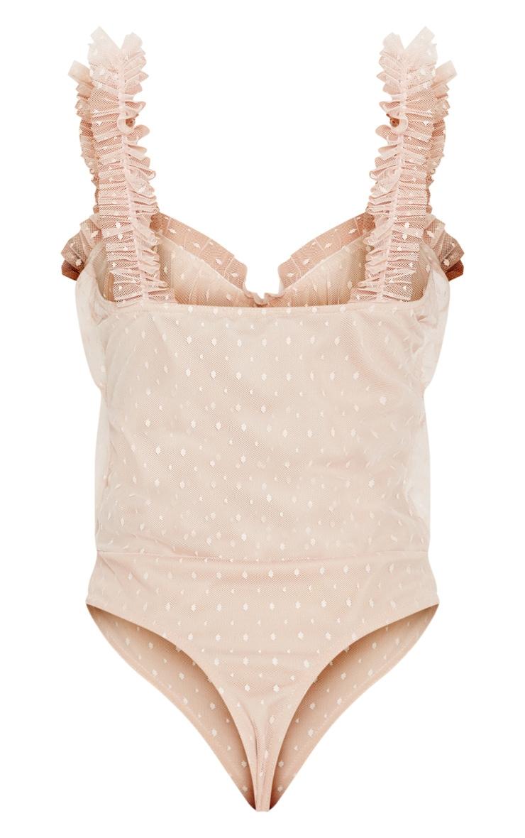 Blush Dobby Mesh Frill Bodysuit 4