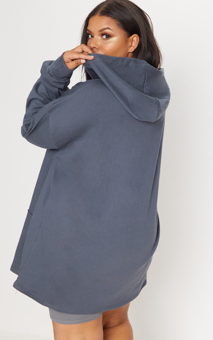 Plus Charcoal Oversized Hoodie 2