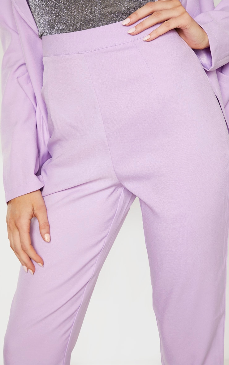 Tall Lilac Fitted Trousers 5