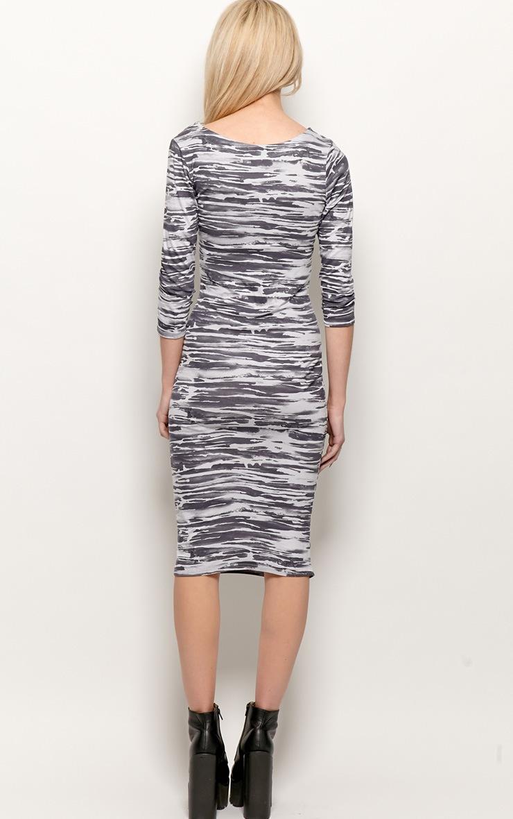 Macy Zebra Print Midi Dress 2
