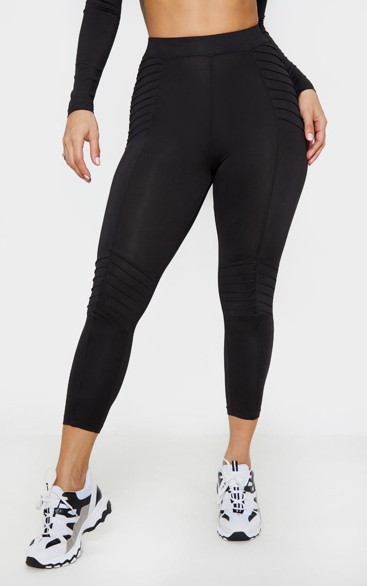 Black Ribbed 3/4 Gym Legging 2