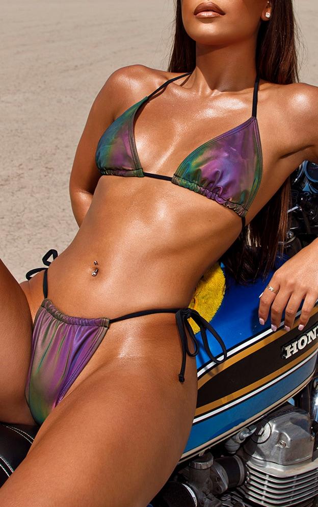 Petrol Reflective Triangle Bikini Top 5