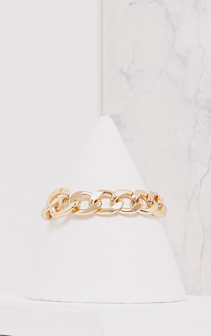 Jordanna Gold Oversized Chain Bracelet 1