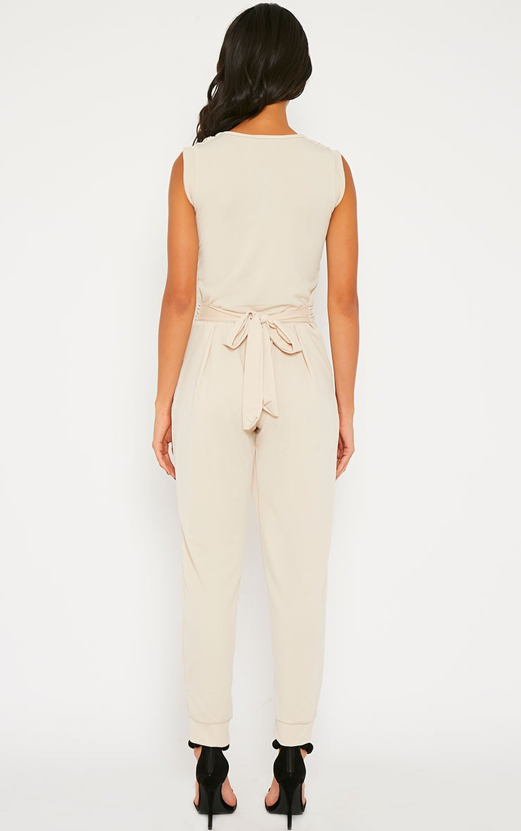 Cheris Cream Cowl Neck Jumpsuit 2