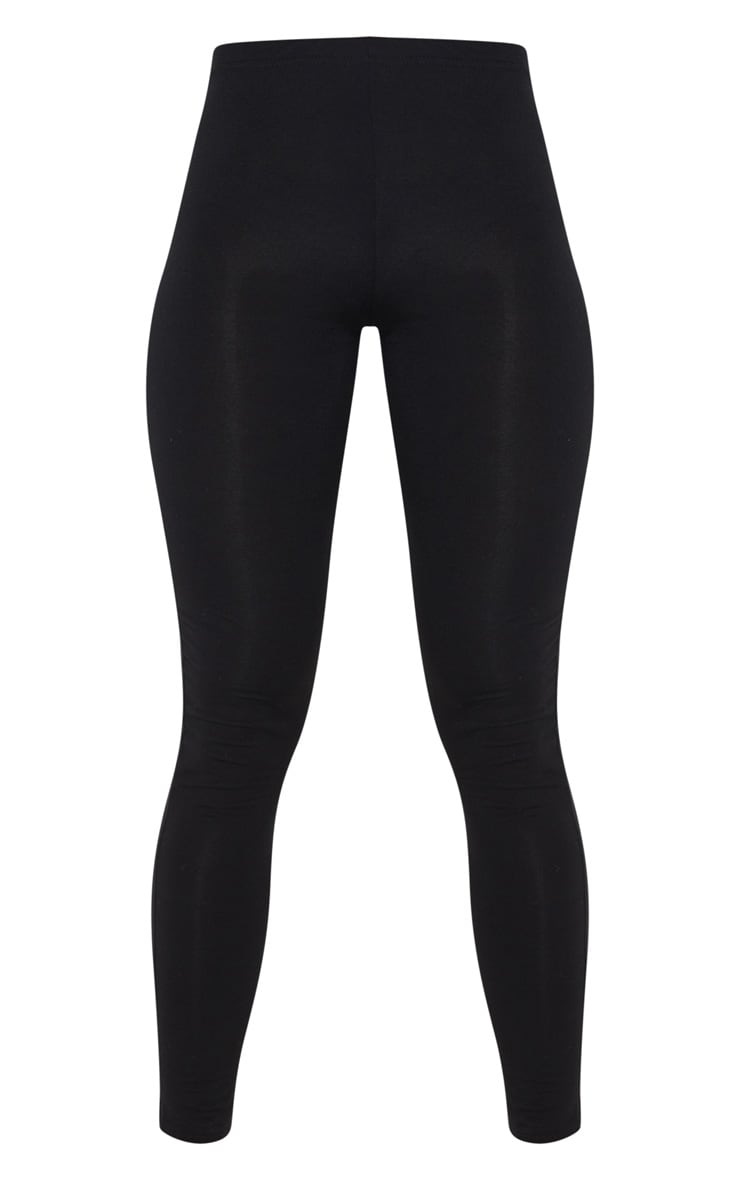 Basic Black Jersey Leggings 3