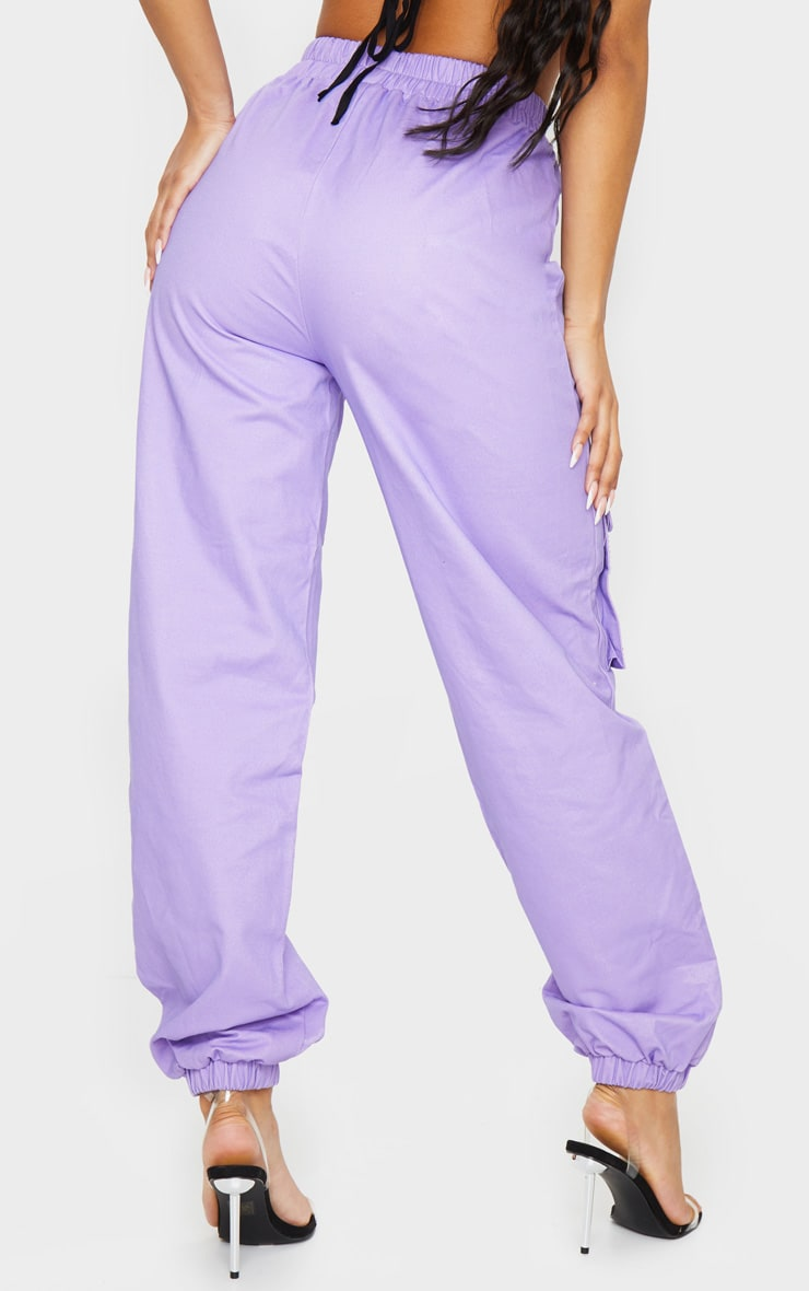 Lilac Diamante Pocket Detail Cargo Pants 3