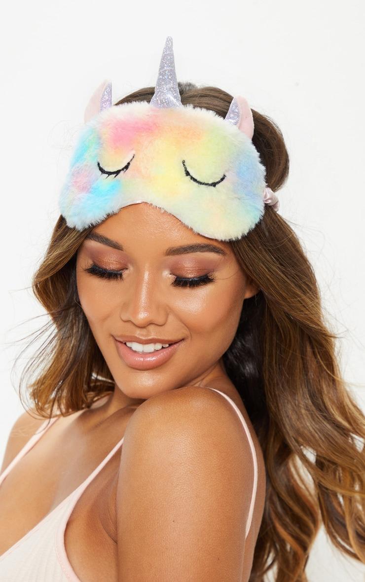 Rainbow Unicorn Fluffy Eyemask 1