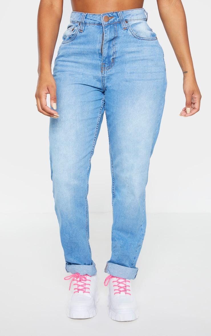 Shape - Jean mom bleu délavé 2