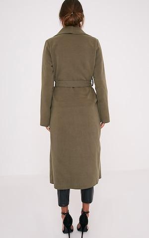 Veronica manteau effet cascade surdimensionné gris argenté à