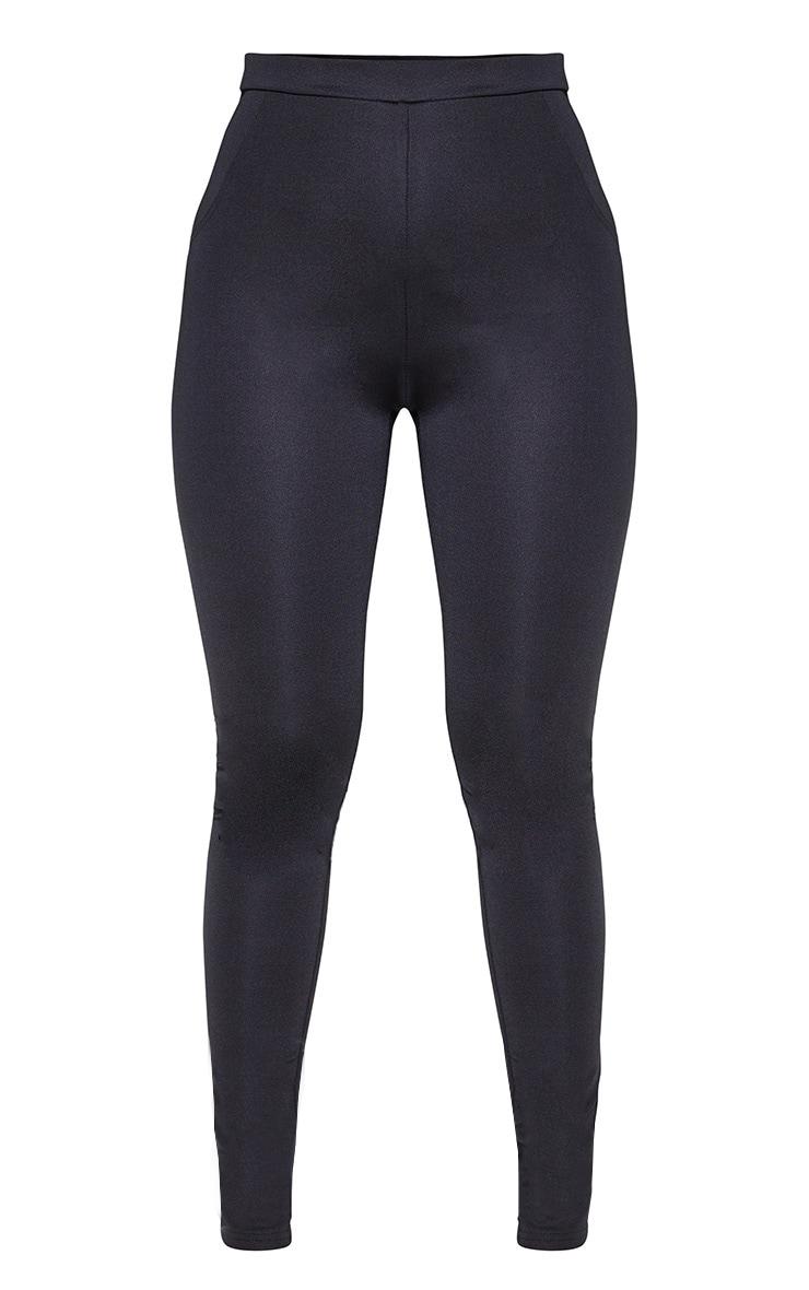 Black Super Stretch Back Pocket Detail Skinny Pants 3