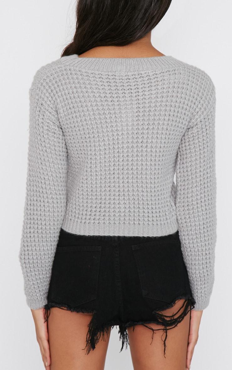 Tilde Grey Knitted Crop  3