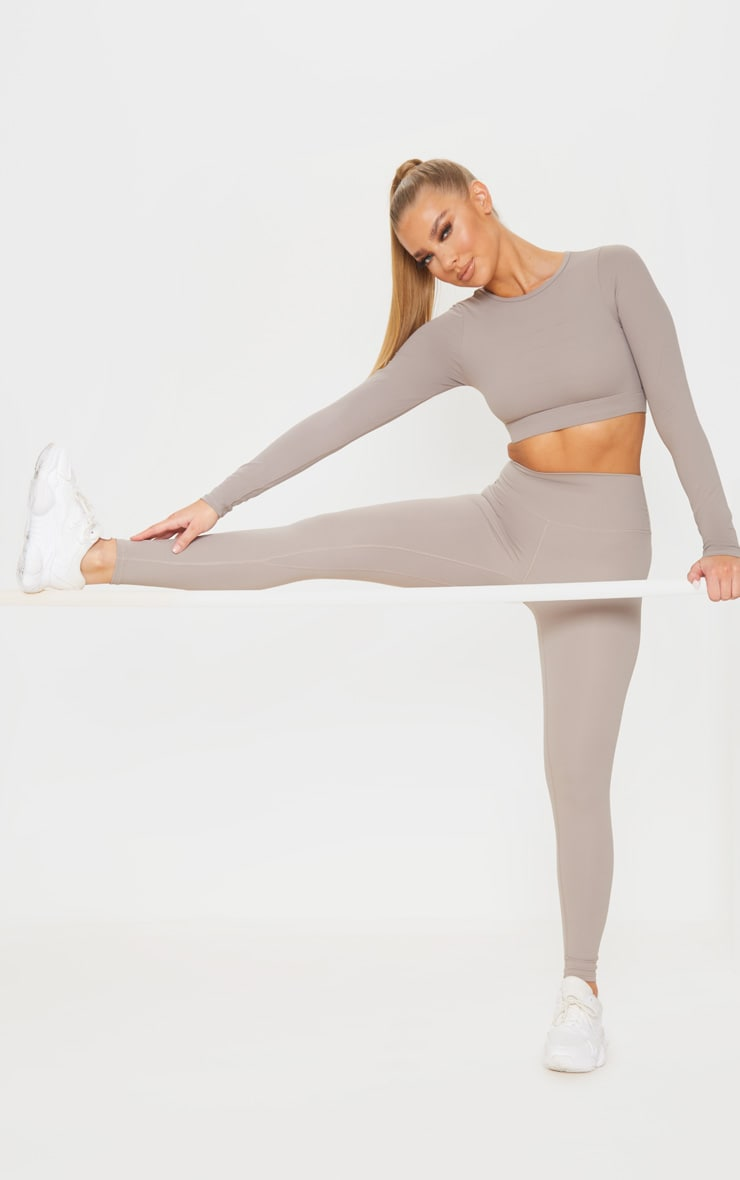Taupe Sculpt Luxe Gym Legging 1