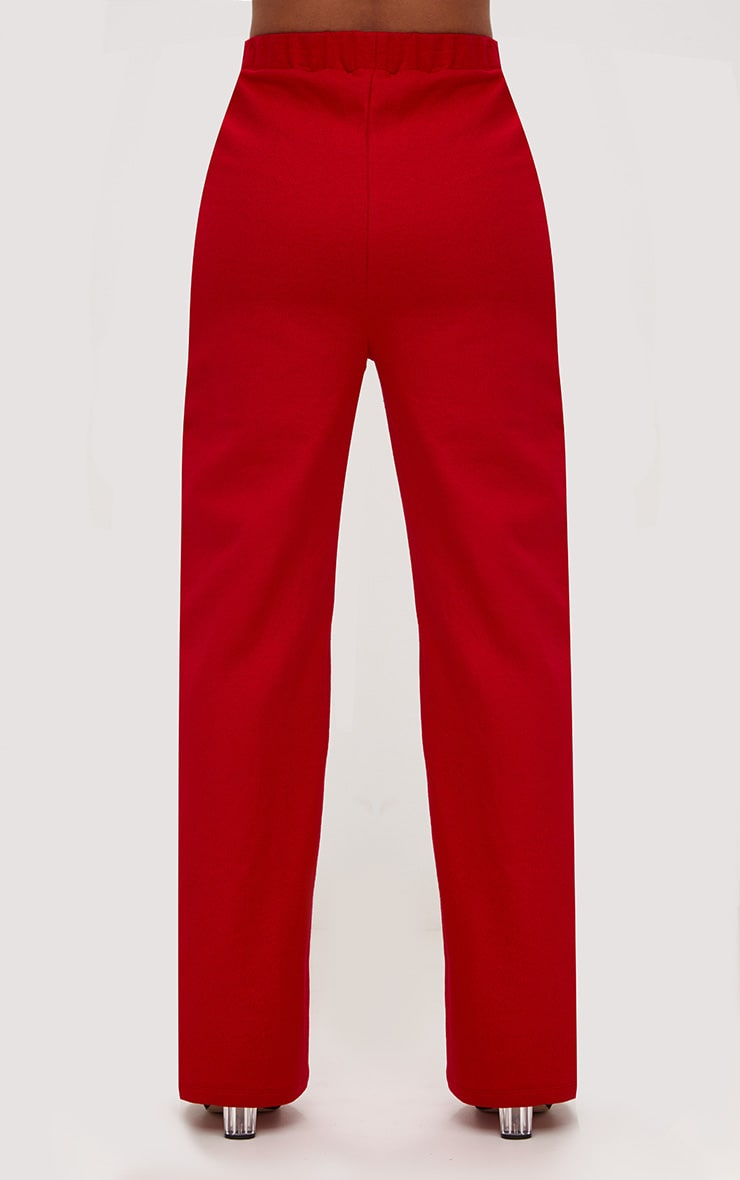 Red Front Popper Wide Leg Joggers 4