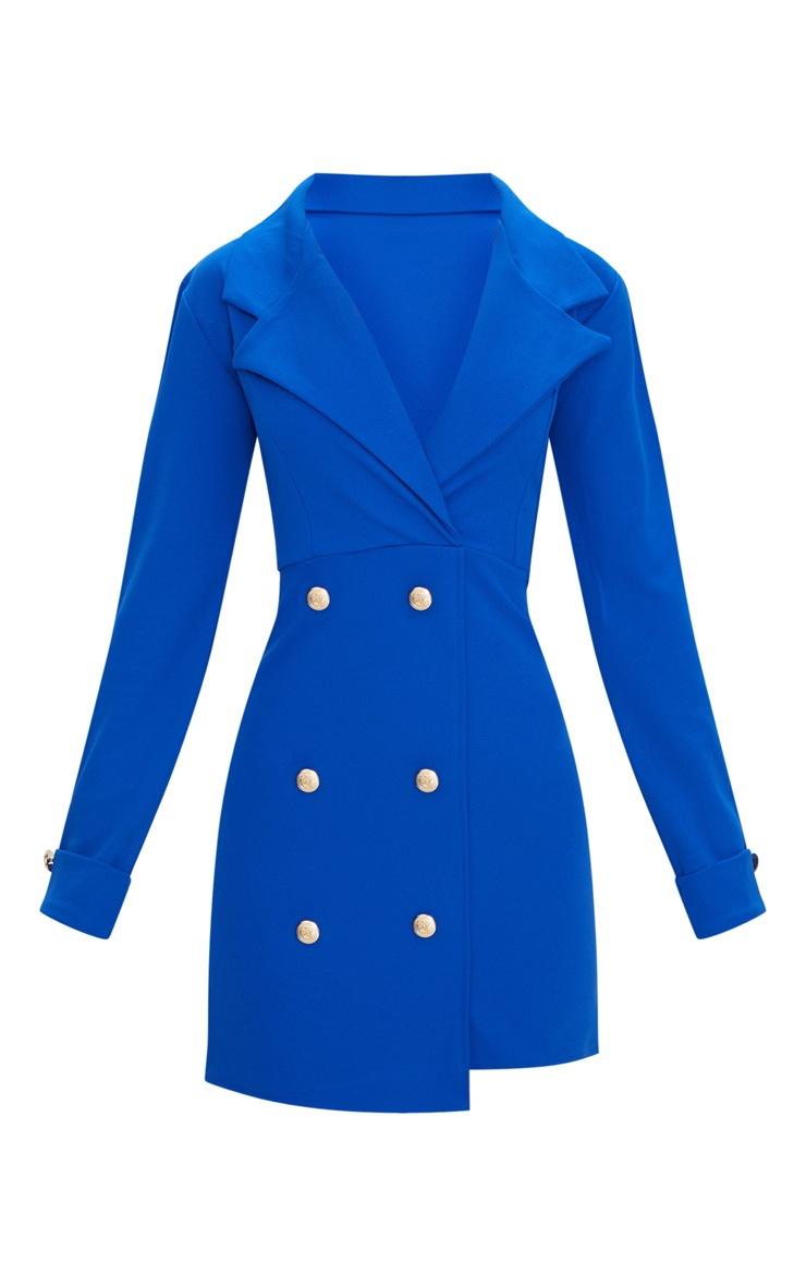 Cobalt Gold Button Detail Blazer Dress 3