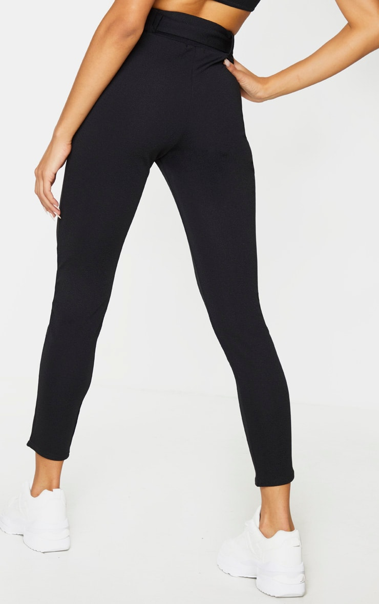 Black Belted Skinny Trousers 3