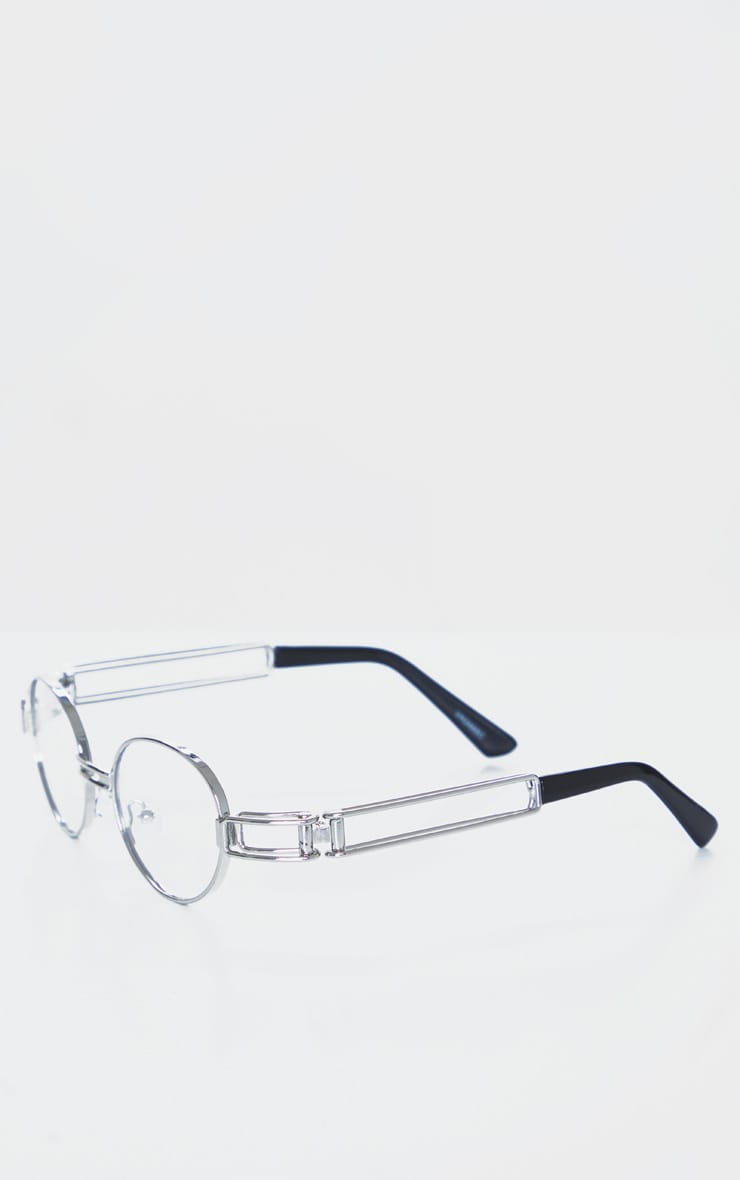Clear Round Frame Glasses 3