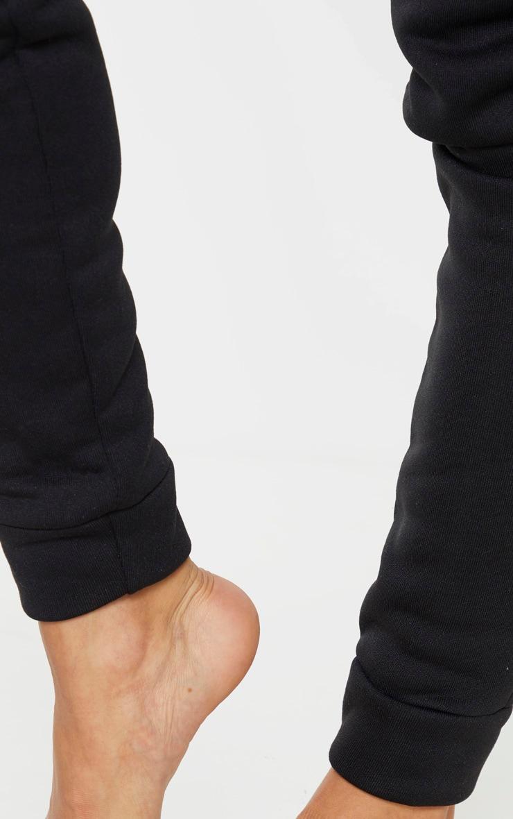 Black Basic Fleece Joggers 5
