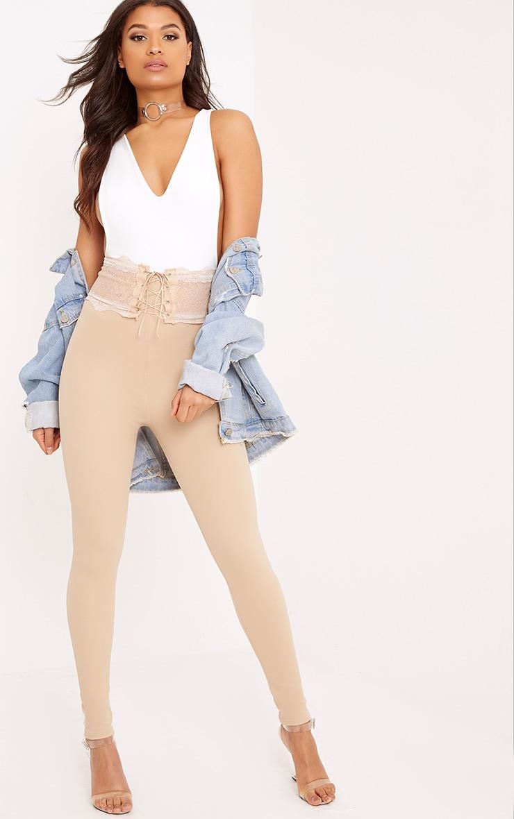 Azalea Stone Lace Corset Waist Trousers 1